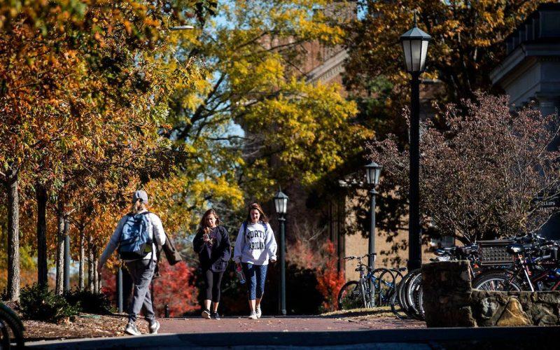 Campus på University of North Carolina.
