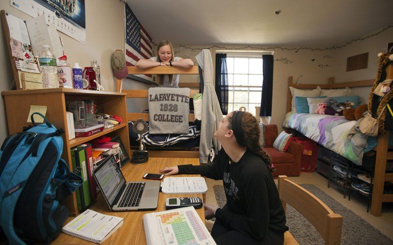 """Ett typiskt """"dorm"""", här på Lafayette College."""