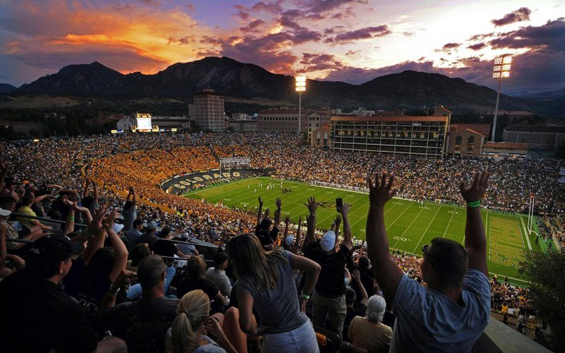 Amerikansk fotboll på University of Colorado, Boulder.