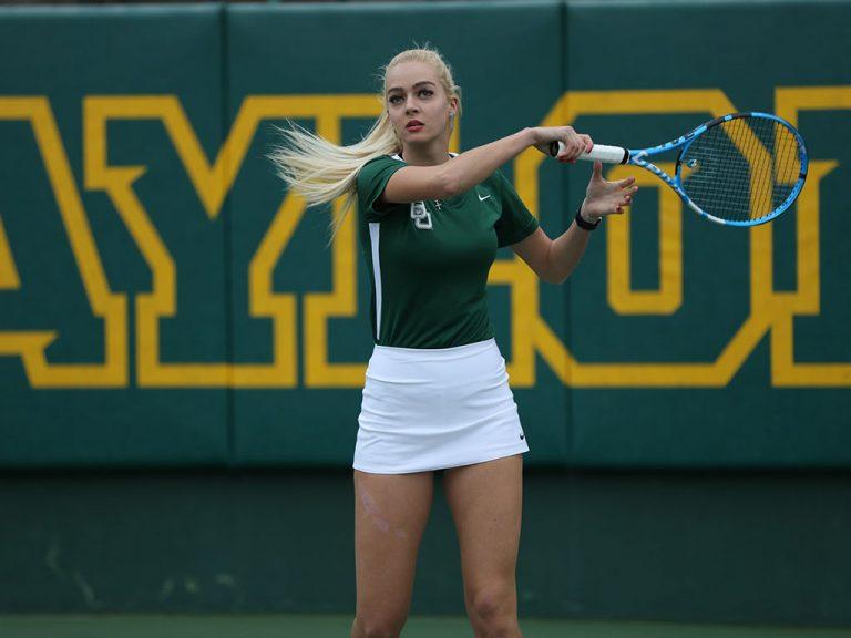 Tennis player for Baylor University.